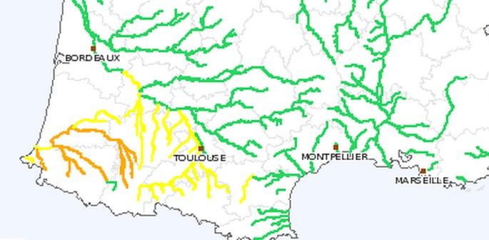 Inondations les Hautes Pyrénées restent en alerte orange vendredi 27 fevrier 2015