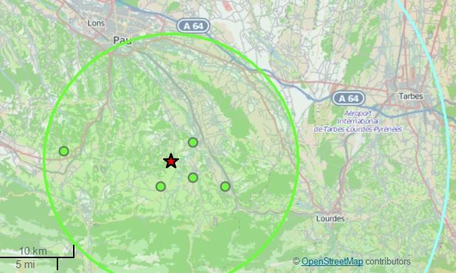 tremblement de terre sud lourdes 18 mars