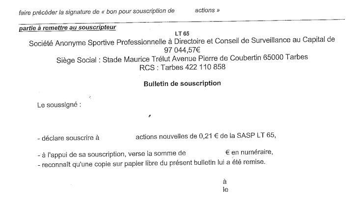 Le Tarbes Pyrénées Rugby lourdement sanctionné par la ligue Rugby