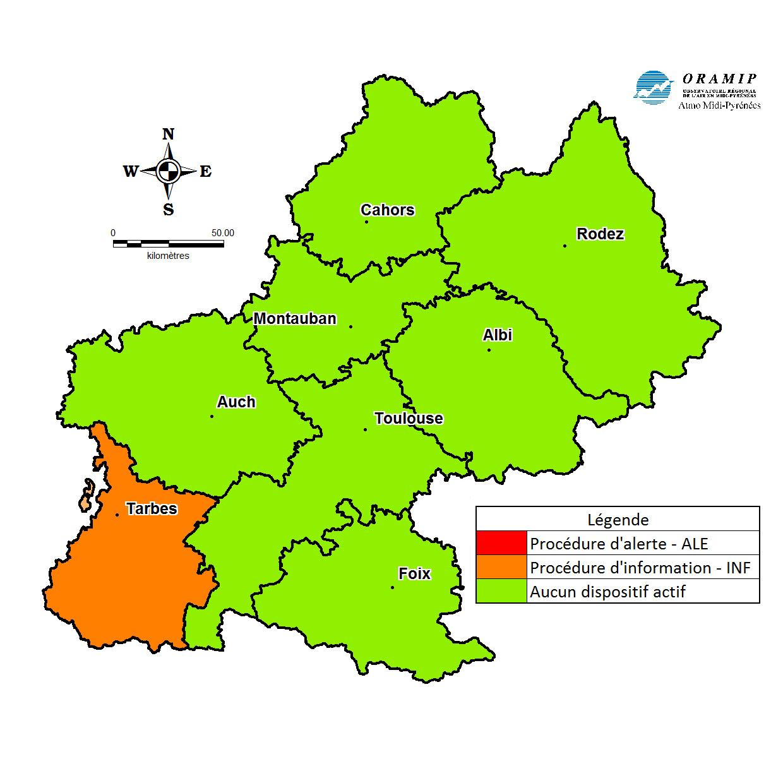 Nouvelle alerte à la pollution ce mercredi à Tarbes