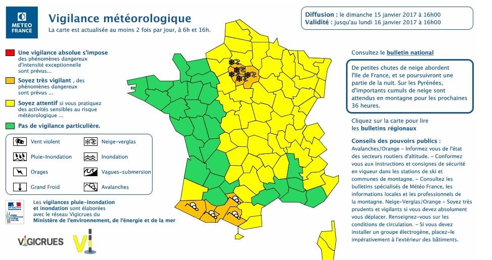 Neige et risque avalanches. Les Hautes Pyrénées en alerte orange