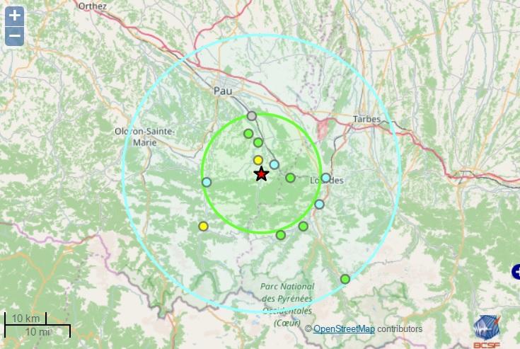 Tremblement de terre à Saint Pé de Bigorre