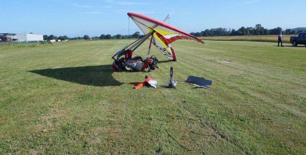 Larreule. un pilote d'ULM indemne après un crash