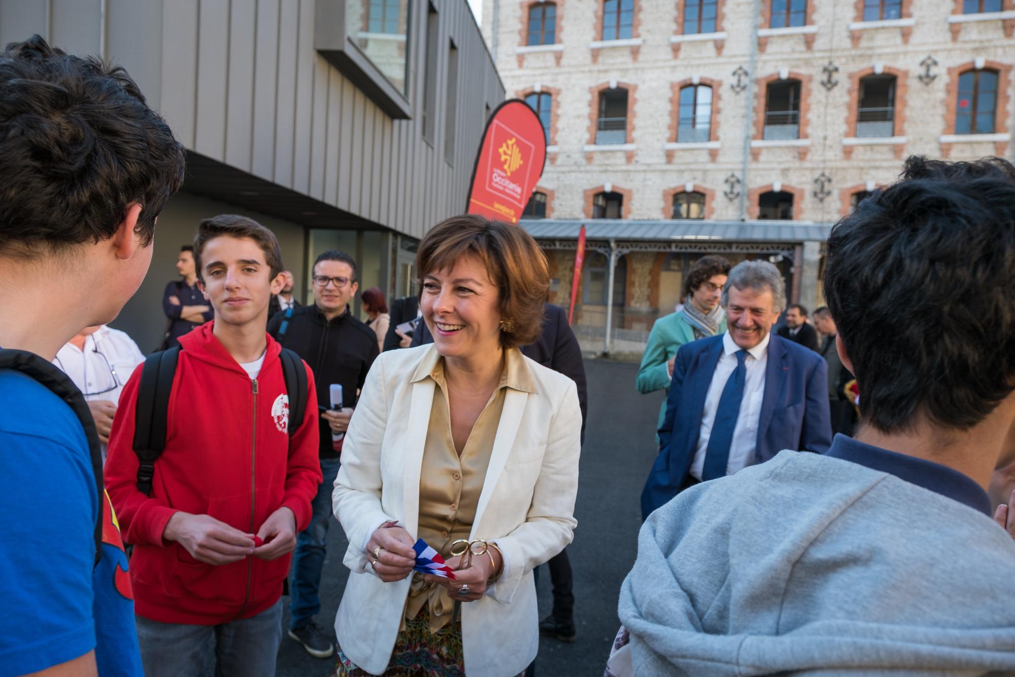 Carole Delga inaugurations Tarbes