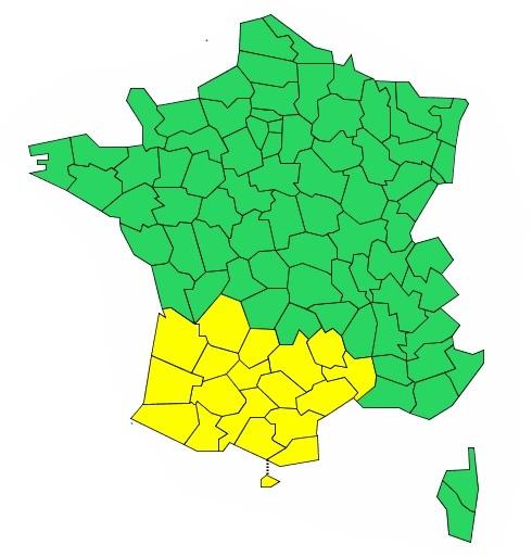 Orages, vents violents. Les Hautes Pyrénées en alerte météo vigilance jaune