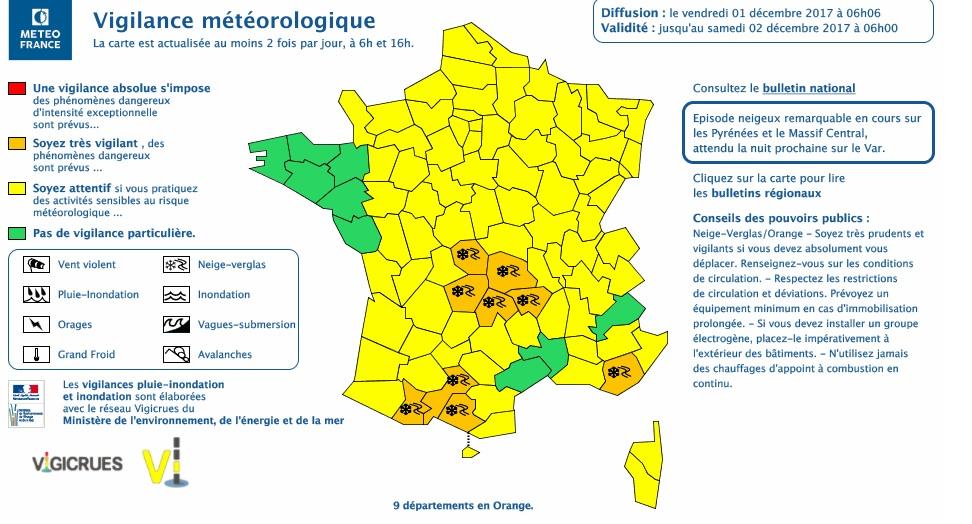 Fortes chutes de neige sur les Pyrénes, Ariège Haute Garonne Hautes Pyrénées