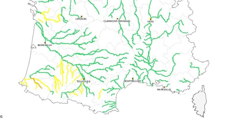 Hauts Pyrénées Tarbes risque crues inondations mardi 20 février 2018