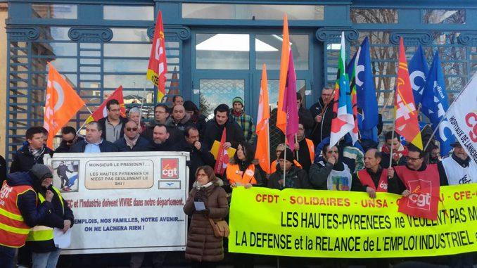Importante mobilisation à Tarbes pour Vallourec et l'emploi industriel