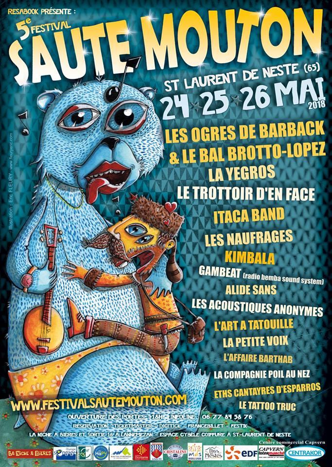 Les Ogres de Barback tête d'affiche du festival Saute Mouton à Saint Laurent de Neste