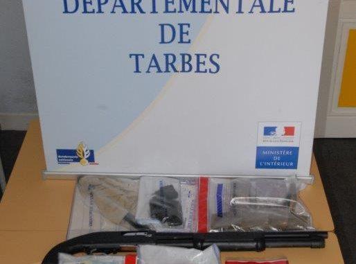 Armes, drogue, 6 personnes arrêtées à Tarbes