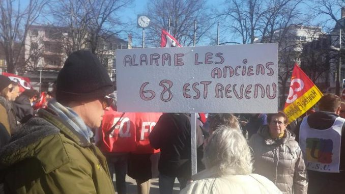SNCF Gaziers ou Hospitaliers manifestent à Tarbes