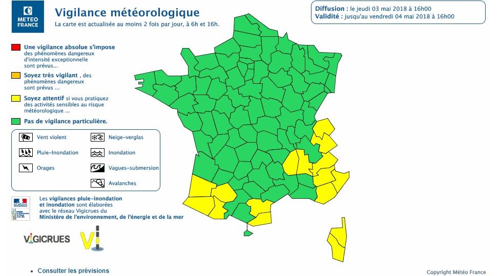 Inondations. Les Hautes Pyrénées en alerte météo vigilance jaune