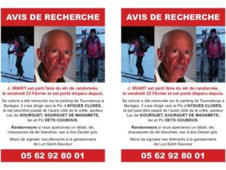 Luz. Porté disparu depuis le 23 février la gendarmerie relance l'appel à témoins