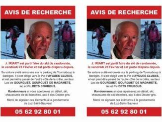 Porté disparu depuis février, le corps de Joseph Irirat retrouvé secteur Barège