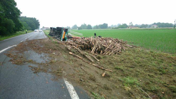Spectaculaire accident entre Maubourguet et Vic en Bigorre