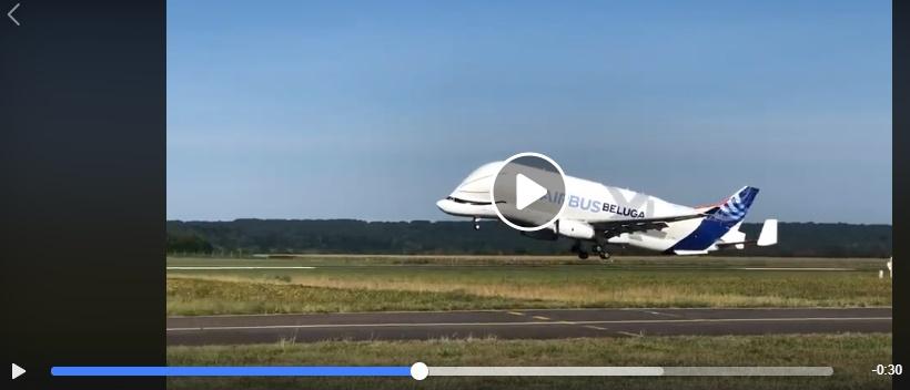 La vidéo de l'Airbus Béluga à l'aéroport de Tarbes Lourdes fait le buzz