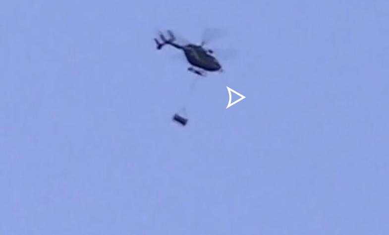 Ourse transportée en hélicoptère dans les Pyrénées, la vidéo