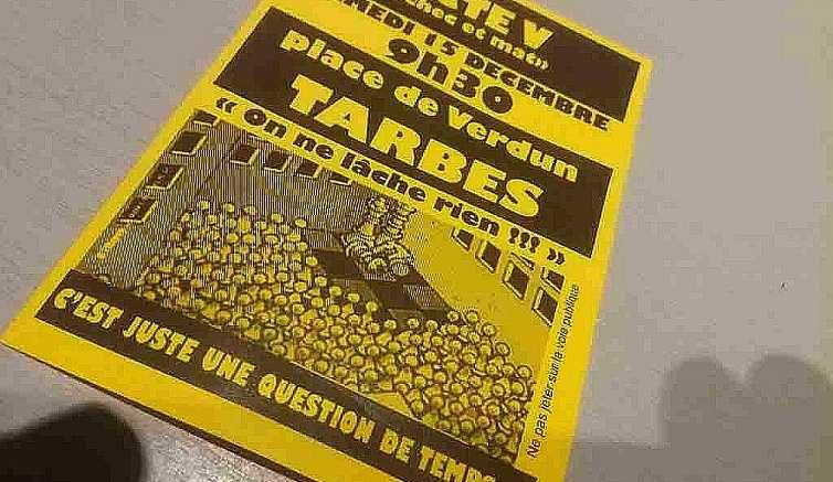 Acte 5 les Gilets Jaunes manifesteront samedi à Tarbes