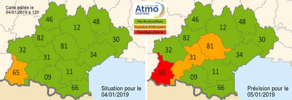 Nouvelle alerte à la pollution de l'air à Tarbes