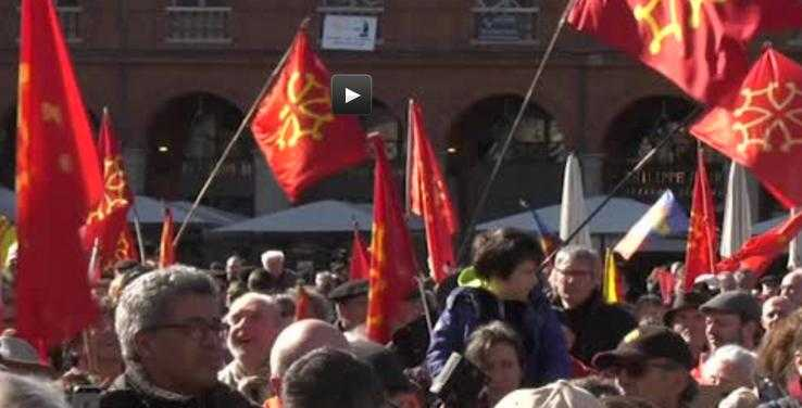 De Tarbes, ils sont allés manifester pour l'Occitan